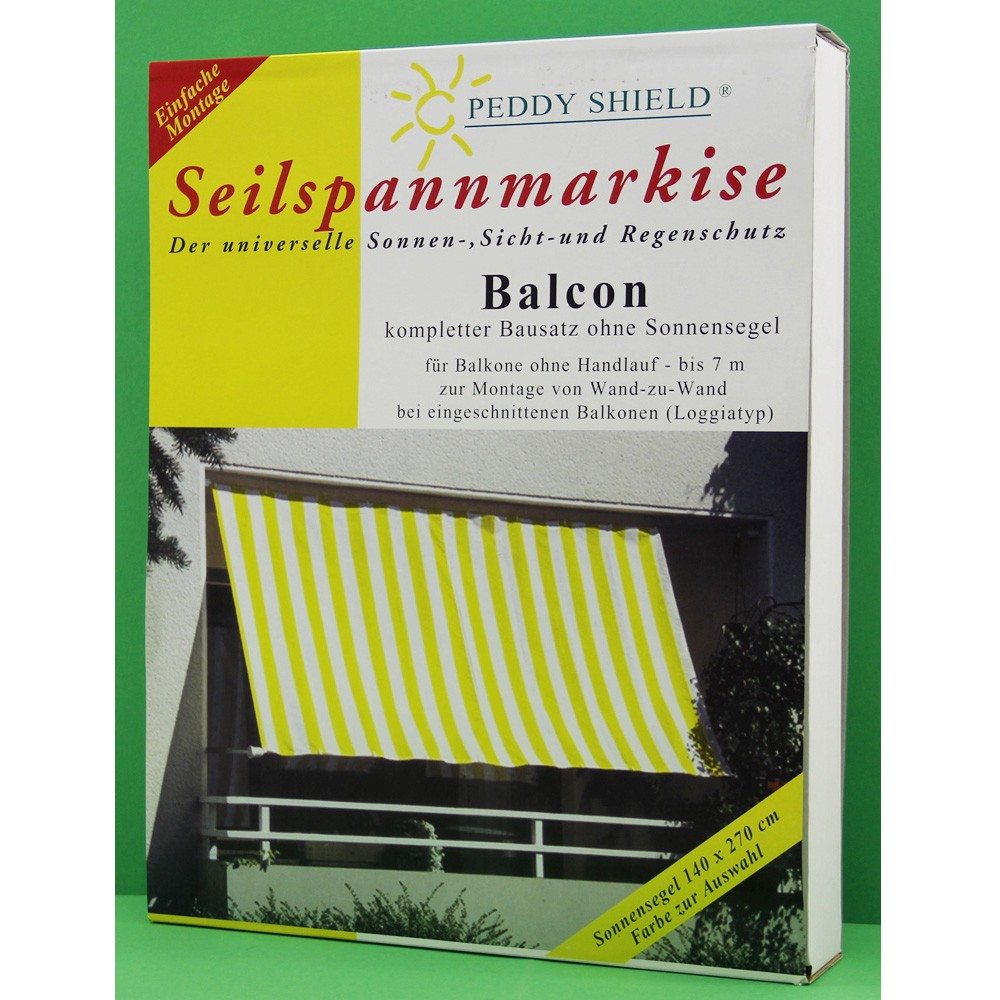 seilspann markise f r balkone bis 7m sonnensegel sonnenschutz peddy shield garten sonstige 1049. Black Bedroom Furniture Sets. Home Design Ideas