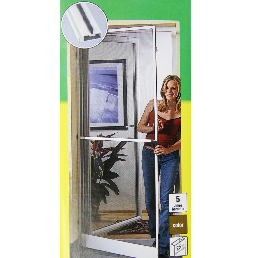 fliegengitter insektenschutz t r m ckenschutz 100x210cm braun alu star 03729 ebay. Black Bedroom Furniture Sets. Home Design Ideas
