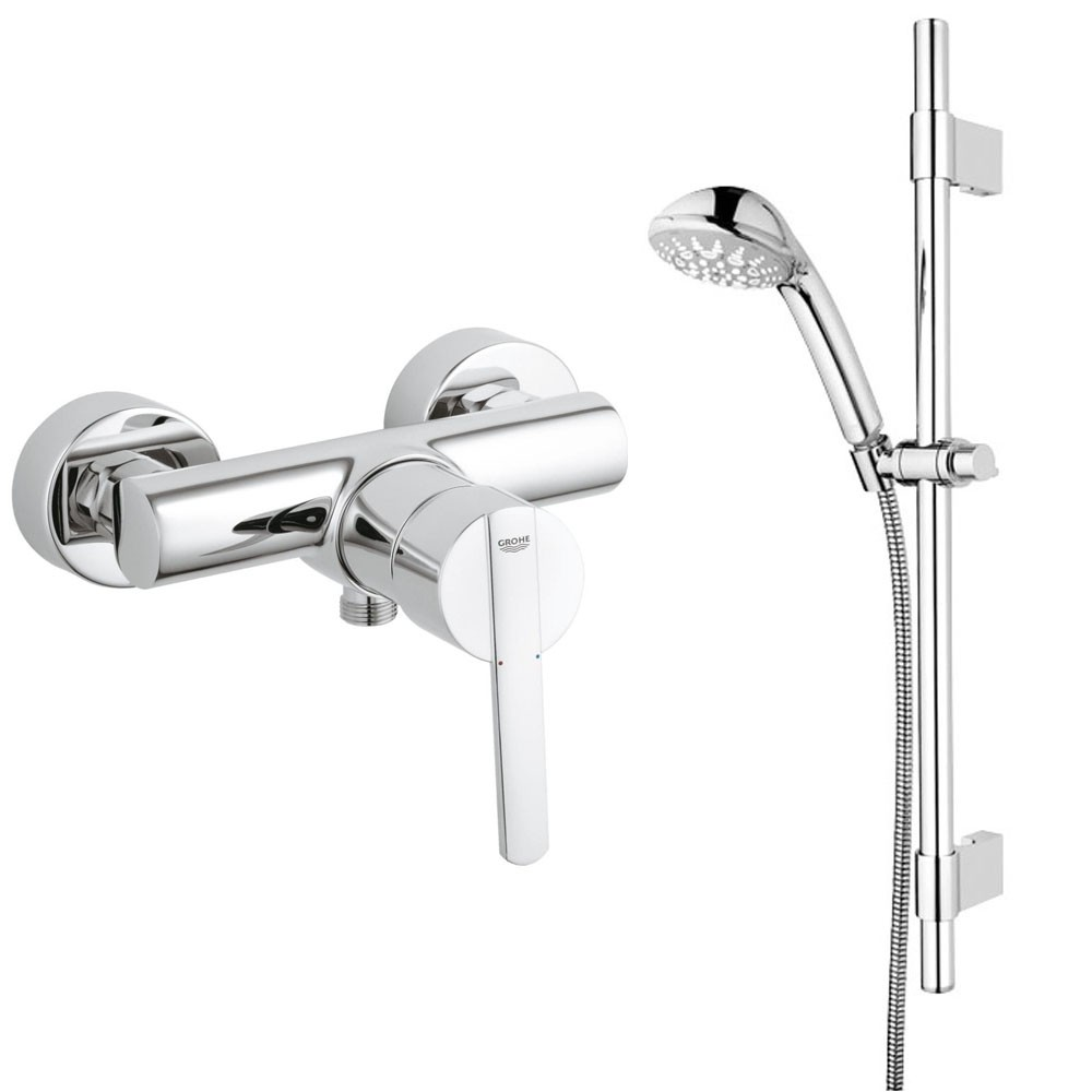 grohe bad armaturen sets armatur thermostat brause f r dusche o badewanne ebay. Black Bedroom Furniture Sets. Home Design Ideas