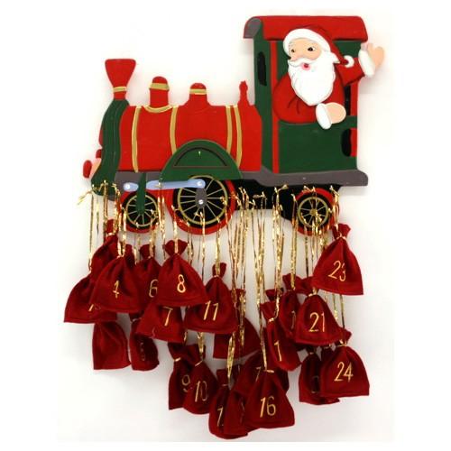 adventskalender holz weihnachts eisenbahn deko kalender. Black Bedroom Furniture Sets. Home Design Ideas