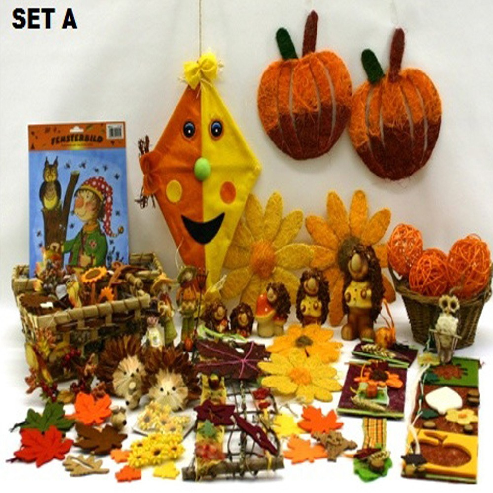 Herbst deko holz party folie kinder obst k che bad kranz for Kinder deko
