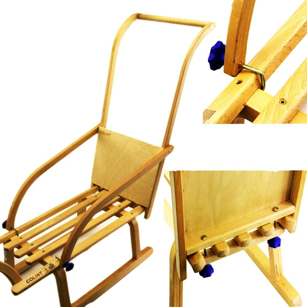 holzschlitten rodel schlitten lehne schieber kinder. Black Bedroom Furniture Sets. Home Design Ideas