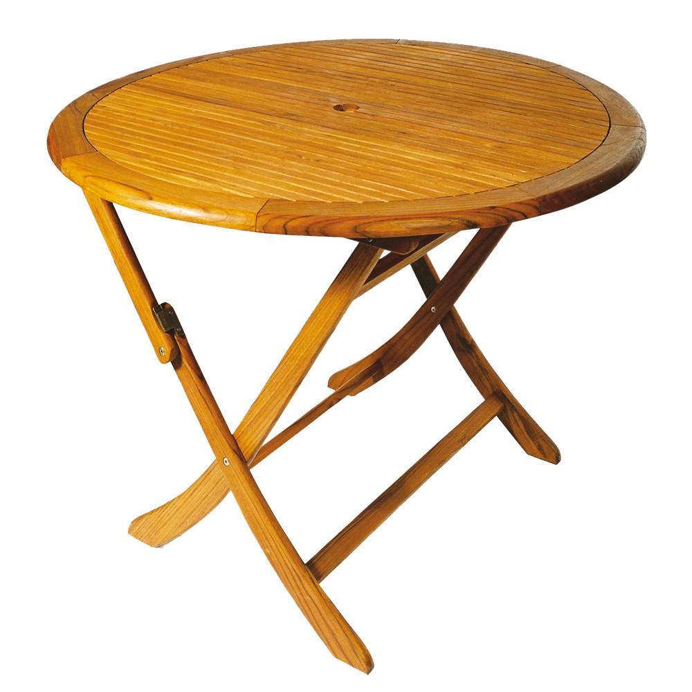 Gartenmobel holztisch rund interessante for Holztisch rund
